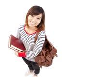 Studente di college asiatico sorridente Fotografie Stock