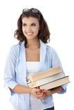Studente di college attraente con i libri Fotografie Stock