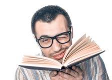 Studente di college con il libro immagini stock