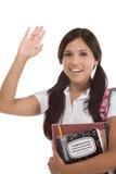 Studente di college del latino-americano di saluto Fotografie Stock