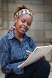 Studente di college dell'afroamericano o PA Fotografia Stock Libera da Diritti