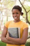 Studente di college della femmina dell'afroamericano Fotografie Stock