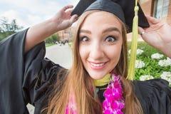 Studente di college emozionante Fotografie Stock