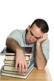 Studente di college faticoso Fotografia Stock