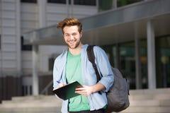 Studente di college felice Fotografia Stock