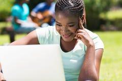 Studente di college femminile Immagini Stock