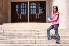 Studente di college femminile Fotografie Stock Libere da Diritti