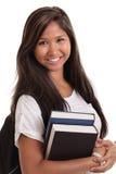 Studente di college femminile asiatico Immagini Stock