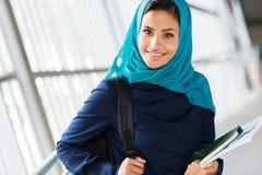 Studente di college musulmano Fotografia Stock