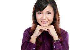 Studente di college sorridente Fotografie Stock Libere da Diritti