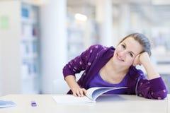 studente di college in una libreria Fotografia Stock