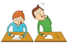 Studente di frode illustrazione vettoriale
