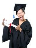 Studente di laurea con il diploma Immagini Stock Libere da Diritti
