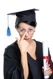 Studente di laurea in occhiali Fotografia Stock Libera da Diritti