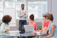 Studente di modo che dà una presentazione Immagine Stock