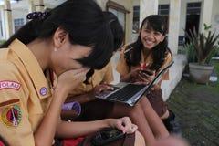 Studente di sorriso Immagini Stock