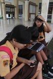 Studente di sorriso Fotografie Stock