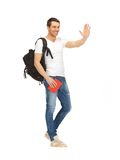 Studente di viaggio Immagini Stock