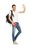 Studente di viaggio Immagini Stock Libere da Diritti