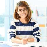 Studente diligente Fotografia Stock