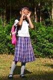 Studente Eenvormig Searching Wearing School royalty-vrije stock afbeelding
