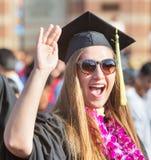 Studente emozionante Waving Immagine Stock Libera da Diritti