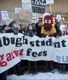 Studente Fees Protest Edinburgh Scozia Regno Unito 2010 Fotografie Stock Libere da Diritti