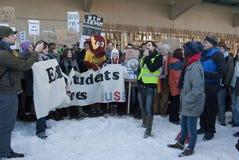 Studente Fees Protest Edinburgh Scozia Regno Unito 2010 Immagini Stock Libere da Diritti