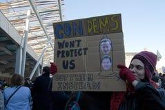 Studente Fees Protest Edinburgh Scozia Regno Unito 2010 Fotografia Stock