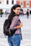 Studente felice With Backpack Fotografia Stock Libera da Diritti
