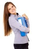 Studente felice con una cartella Immagini Stock