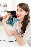 Studente Girl Learning immagini stock libere da diritti
