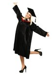 Studente graduato felice Fotografie Stock