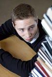 Studente Has molto compito Fotografia Stock Libera da Diritti