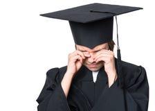 Studente laureato della bambina Immagine Stock