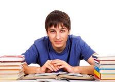 Studente With libri Fotografia Stock Libera da Diritti