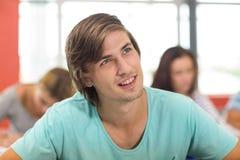 Studente maschio nell'aula Fotografia Stock Libera da Diritti