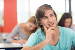Studente maschio nell'aula Immagine Stock Libera da Diritti