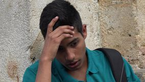 Studente maschio teenager confuso Immagine Stock