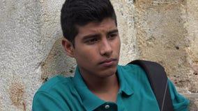 Studente maschio teenager triste e solo Fotografia Stock Libera da Diritti