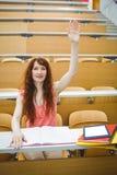 Studente maturo nel corridoio di conferenza Immagini Stock Libere da Diritti