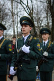 Studente Military School Fotografie Stock Libere da Diritti