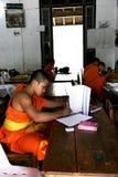 Studente Monk del Laos Fotografia Stock