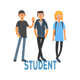 Studente People Set 3 illustrazione di stock