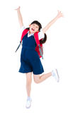 Studente primario asiatico emozionante Fotografie Stock