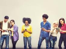 Studente Relationship Team Concept del collegamento dei colleghi Fotografie Stock Libere da Diritti