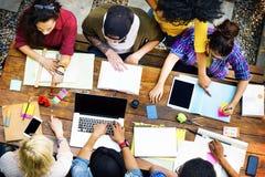 Studente Relationship Team Concept del collegamento dei colleghi Immagine Stock Libera da Diritti