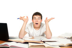 Studente sorpreso Immagini Stock