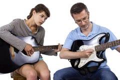 Studente sottolineato di musica Fotografia Stock