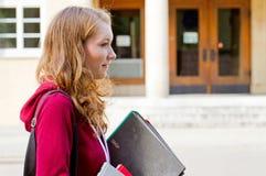 Studente sulla città universitaria Fotografia Stock